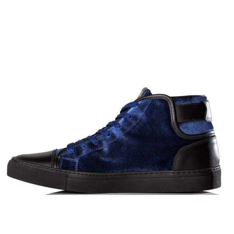Ladies MrE Blue Velvet Sneaker (Sample sale 36, 37, 38, 39, 40)
