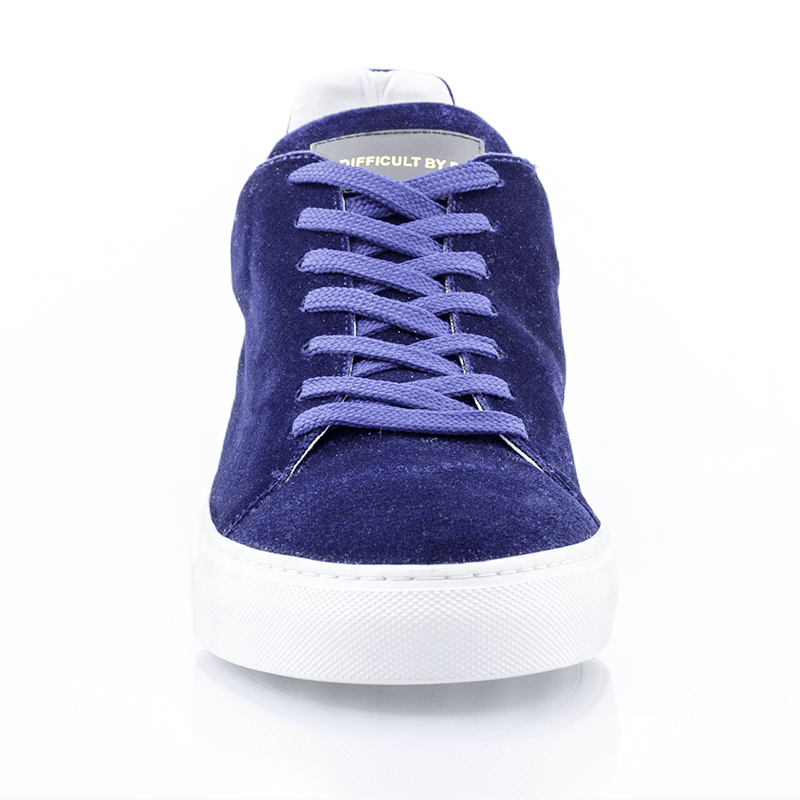 Ladies Madison Velvet Blue Sneaker (sample sale 36,37)