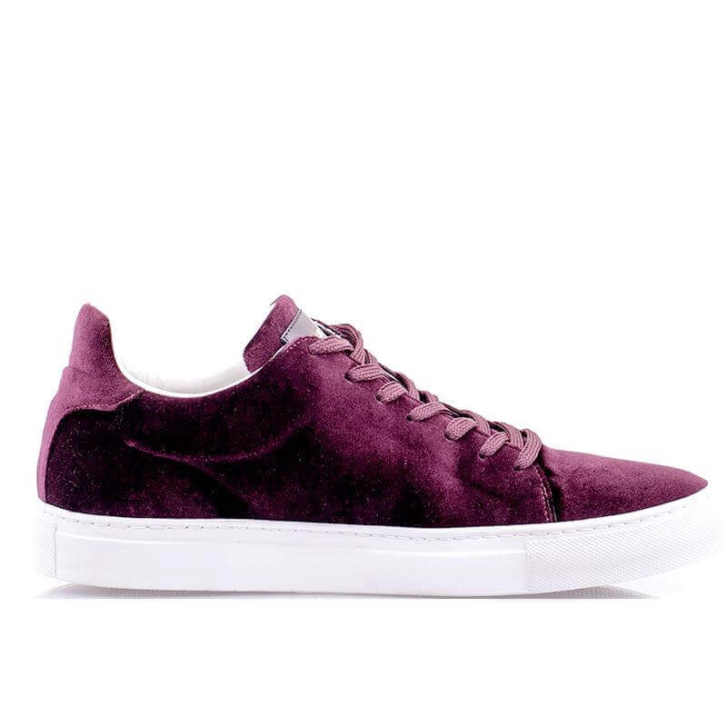 Ladies Madison Velvet Bordeaux Sneaker