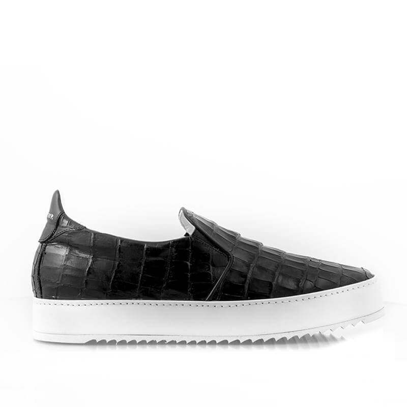 Ladies Slip in Croco Sneaker