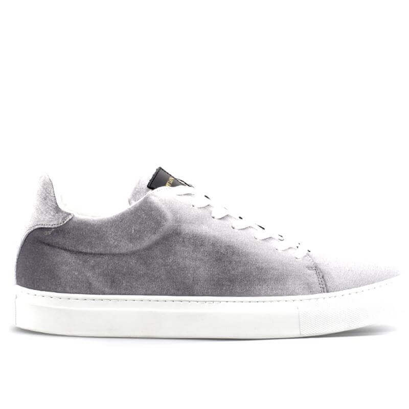 Ladies Madison Velvet Grey Sneaker