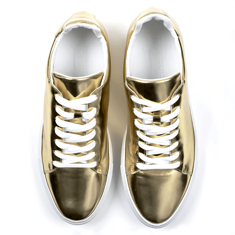Ladies Madison Gold Sneaker