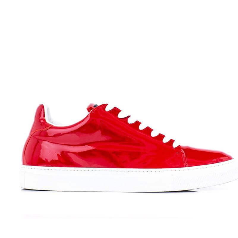 Ladies Madison Red Sneaker