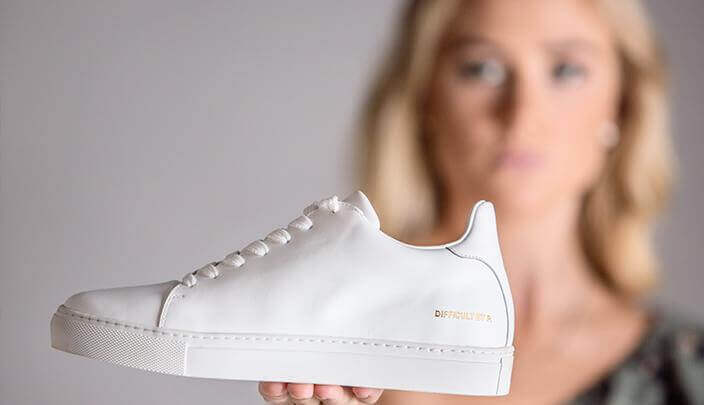 Ladies Madison White Sneaker